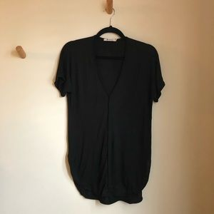 T Alexander Wang deep V black T-shirt